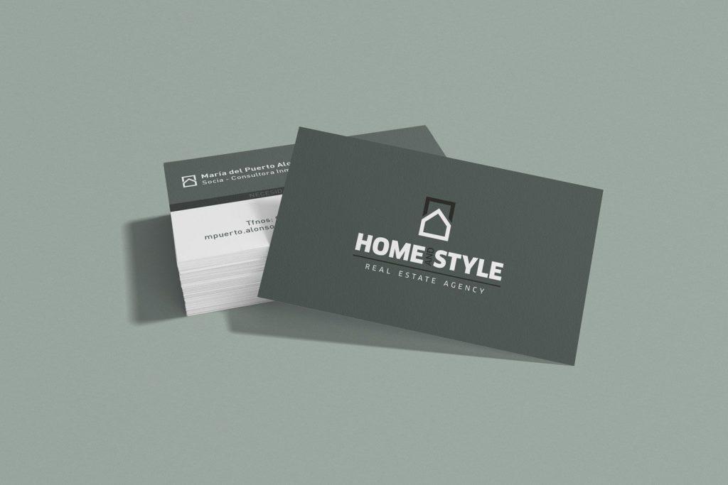 diseño de tarjetas para inmobiliaria